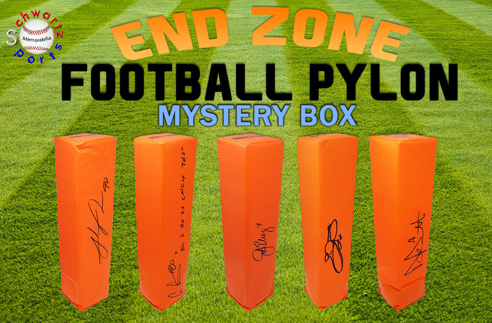 Schwartz Sports Football Endzone Pylon Signed Mystery Box - Series 6 (Limited to 150) at PristineAuction.com
