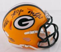 Danny Vitale, Jamaal Williams, & Aaron Jones Signed Packers Speed Mini Helmet (JSA COA) at PristineAuction.com