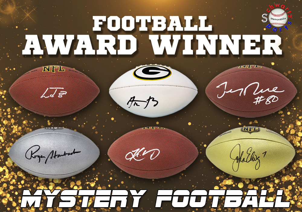 Schwartz Sports Football Award Winner Signed Full-Size Football Mystery Box - Series 3 (Limited to 100) at PristineAuction.com