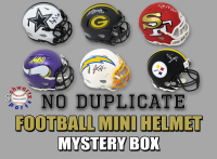 Schwartz Sports NO DUPLICATES Signed Football Mini Helmet Mystery Box - Series 7 (Limited to 75) at PristineAuction.com