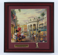 "Thomas Kinkade Walt Disney's ""Minnie Mouse Shopping In Beverly Hills"" 16x16 Custom Framed Print Display at PristineAuction.com"