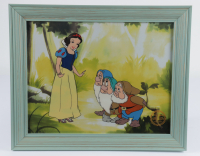 "Walt Disney's ""Snow White"" 13.5x16.5 Custom Framed (2) Piece Animation Serigraph Cel with Disney Seal at PristineAuction.com"