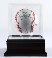 Barry Bonds Signed OML Giants Logo Baseball with Display Case (PSA COA) (See Description) at PristineAuction.com