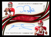 Tua Tagovailoa / Jalen Hurts 2020 Immaculate Collection Collegiate Immaculate Dual Autographs #9 #12/25 at PristineAuction.com
