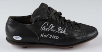 "Carlton Fisk Signed Vintage Baseball Cleat Inscribed ""HOF 2000"" (PSA COA) (See Description) at PristineAuction.com"