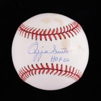 "Ozzie Smith Signed ONL Baseball Inscribed ""HOF 02"" (JSA COA) (See Description) at PristineAuction.com"