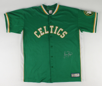 Larry Bird Signed Celtics Warm Up Shirt (PSA COA & Bird Hologram) at PristineAuction.com