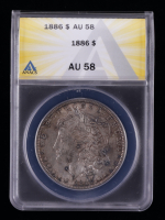1886 Morgan Silver Dollar (ANACS AU58) (Toned) at PristineAuction.com