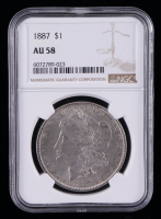 1887 Morgan Silver Dollar (NGC AU58) at PristineAuction.com