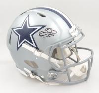 Emmitt Smith Signed Cowboys Full-Size Authentic On-Field Speed Helmet (Beckett COA & Prova COA) at PristineAuction.com