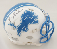 Barry Sanders Signed Lions Matte White Speed Mini Helmet (Schwartz Sports COA) at PristineAuction.com
