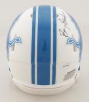 Barry Sanders Signed Lions Matte White Speed Mini Helmet (Schwartz Sports COA) at PristineAuction.com