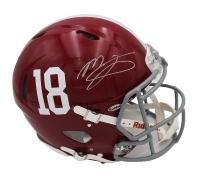 Mac Jones Signed Alabama Crimson Tide Full-Size Authentic On-Field Speed Helmet (Beckett COA) at PristineAuction.com