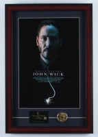 """John Wick"" 15x22 Custom Framed Movie Poster Display with Movie Prop Replica Gold Coin & Continental Hotel Keycard at PristineAuction.com"