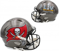 Rob Gronkowski Signed Buccaneers Full-Size Authentic On-Field Super Bowl LIV Champions Logo Speed Helmet (Radtke COA) at PristineAuction.com