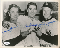 Mickey Mantle, Hank Bauer & Tom Sturdivant Signed Yankees 8x10 Photo (JSA LOA) at PristineAuction.com