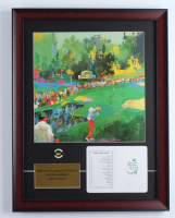 """Leroy Neiman """"The 16th At Augusta National"""" 16x21 Custom Framed Print Display With Masters Tournament Pin & Official Scorecard at PristineAuction.com"""
