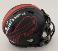 "Andre Reed Signed Bills Eclipse Alternate Speed Mini Helmet Inscribed ""HOF 14"" (Schwartz COA) at PristineAuction.com"