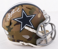 Troy Aikman Signed Cowboys Camo Alternate Mini Speed Helmet (Beckett COA) at PristineAuction.com