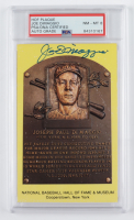 Joe DiMaggio Signed Hall of Fame Plaque Postcard (PSA Encapsulated) at PristineAuction.com