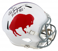 "O.J. Simpson Signed Bills Throwback Full-Size Speed Helmet Inscribed ""HOF 85"" (JSA COA) at PristineAuction.com"