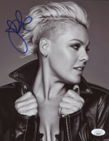 Pink Signed 8x10 Photo (JSA COA) at PristineAuction.com