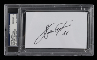 Walter Payton Signed 3x5 Cut (PSA Encapsulated) at PristineAuction.com