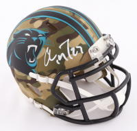 Christian McCaffrey Signed Panthers Camo Alternate Speed Mini Helmet (Beckett COA) at PristineAuction.com