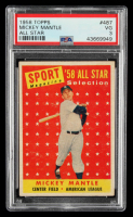 Mickey Mantle 1958 Topps #487 All-Star at PristineAuction.com