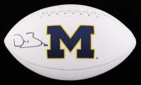Devin Bush Signed Michigan Wolverines Logo Football (JSA COA) at PristineAuction.com