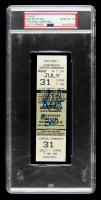 "Nolan Ryan Signed 1990 Rangers ""300th Win"" Ticket Inscribed ""#300"" (PSA Encapsulated) at PristineAuction.com"