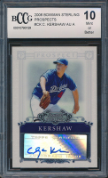Clayton Kershaw 2006 Bowman Sterling Prospects #CK Autograph A (BCCG 10) at PristineAuction.com
