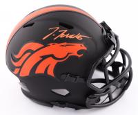Jerry Jeudy Signed Broncos Eclipse Alternate Speed Mini-Helmet (Beckett COA) at PristineAuction.com