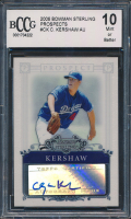 Clayton Kershaw 2006 Bowman Sterling Prospects #CK Autograph (BCCG 10) at PristineAuction.com