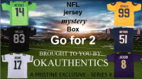 OKAUTHENTICS NFL Go for 2 Jersey Mystery Box - Series X at PristineAuction.com