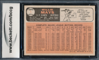 Willie Mays 1966 Topps #1 (BCCG 9) at PristineAuction.com