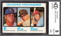 Ron Cey / John Hilton RC / Mike Schmidt RC 1973 Topps #615 Rookie Third Basemen (BCCG 9) at PristineAuction.com