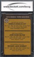 Ron Cey / John Hilton RC / Mike Schmidt RC 1973 Topps #615 Rookie Third Basemen (BCCG 9) at PristineAuction.com