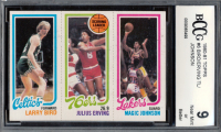 Larry Bird RC / 174 Julius Erving TL / 139 Magic Johnson RC 1980-81 Topps #6 34 (BCCG 9) at PristineAuction.com