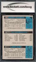 Larry Bird RC / 174 Julius Erving TL / 139 Magic Johnson RC 1980-81 Topps #6 34 (BCCG 9) at PristineAuction.com