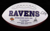 Lamar Jackson Signed Ravens Logo Football (JSA COA) at PristineAuction.com