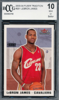 LeBron James 2003-04 Fleer Tradition #261 RC (BCCG 10) at PristineAuction.com