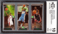 LeBron James 111 RC / Chris Bosh 114 RC / Darko Milicic 112 RC 2003-04 Topps Rookie Matrix #JBM (BCCG 10) at PristineAuction.com