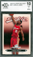 LeBron James 2003-04 Upper Deck MVP #201 RC (BCCG 10) at PristineAuction.com