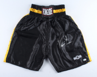 Mike Tyson Signed Ringside Boxing Trunks (PSA COA) at PristineAuction.com