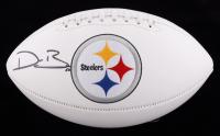 Devin Bush Signed Steelers Logo Football (JSA COA) at PristineAuction.com