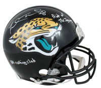 "Fred Taylor Signed Jaguars Authentic On-Field Full-Size Helmet Inscribed ""Pride of The Jaguars"" & ""10k Rushing Club"" (Beckett Hologram) at PristineAuction.com"