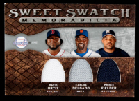 David Ortiz / Carlos Delgado / Prince Fielder 2009 Sweet Spot Swatches Triple #TSODF at PristineAuction.com