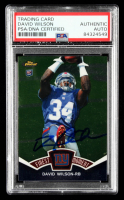 David Wilson Signed 2012 Finest Moments #FMDW (PSA Encapsulated) at PristineAuction.com