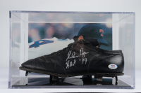"""Nolan Ryan Signed Baseball Cleat With Display Case Inscribed """"HOF '99"""" (PSA COA) at PristineAuction.com"""